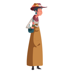 Character illustration british old woman