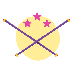 Cheerleading flat elements