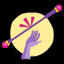 Cheerleading flat stick