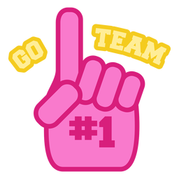 Cheerleading Schriftzug gehen Team
