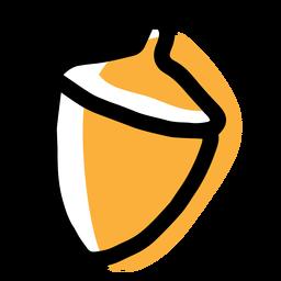 Icono de otoño castaño