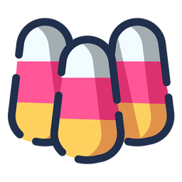 Color candies icon