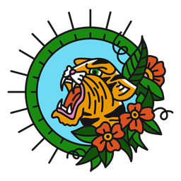 Color tigre oldschool plana