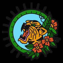 Farbe Tiger Oldschool flach