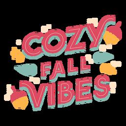 Letras de vibraciones de otoño acogedor