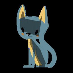 Ilustración linda del gato
