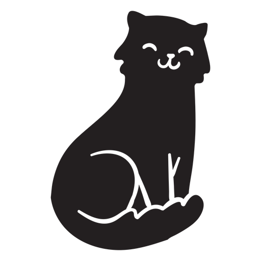 Cute cat sitting Transparent PNG