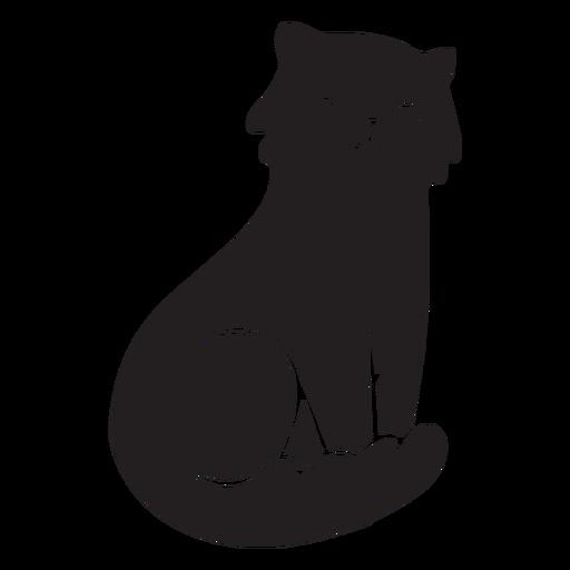 Lindo gato sentado Transparent PNG