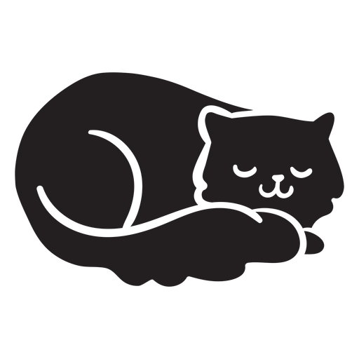 Download Cute cat sleeping - Transparent PNG & SVG vector file
