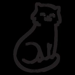 Lindo trazo de gato
