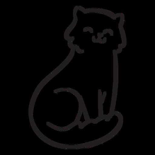 Cute cat stroke Transparent PNG