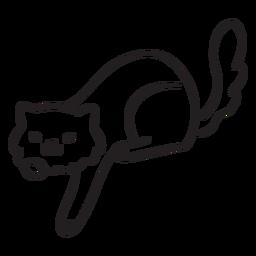 Lindo trazo de gato jugando