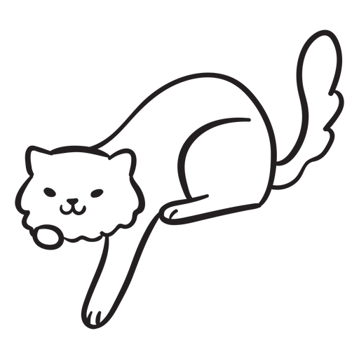 Cute cat stroke playing Transparent PNG