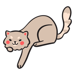 Lindo trazo de gato jugando kitty