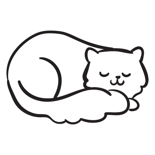 Cute cat stroke sleeping Transparent PNG