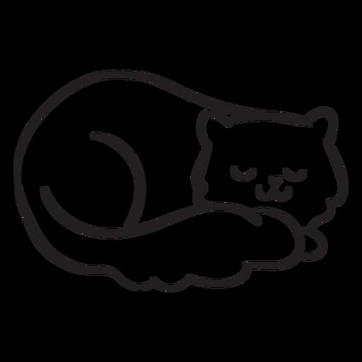 Cute cat stroke sleeping