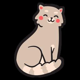 Sorriso de traçado de gato bonito