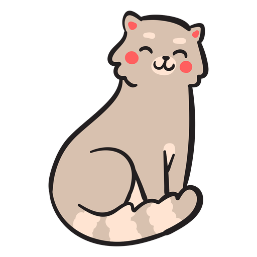Cute cat stroke smile Transparent PNG