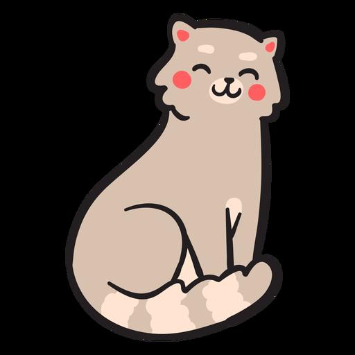 Sorriso fofo com traço de gato Transparent PNG