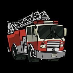 Ilustração de caminhão de bombeiros