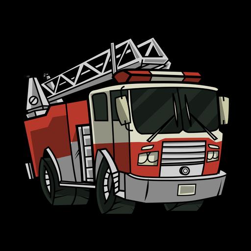 Ilustración de camión de bomberos Transparent PNG