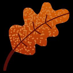 Puntos planos de hojas otoñales