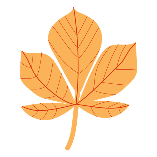 Flat autumn maple Transparent PNG