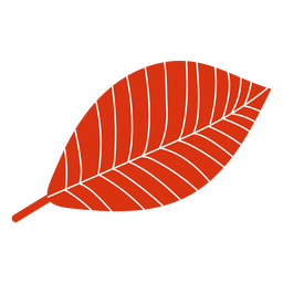 Hoja plana otoño rojo