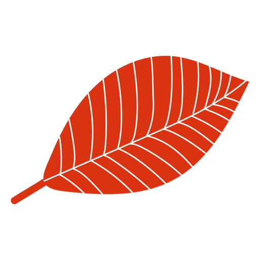 Flat autumn red leaf