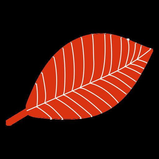 Folha plana de outono vermelha