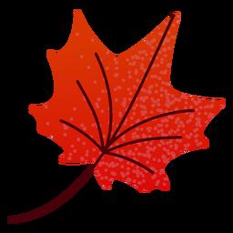 Hoja de arce roja plana otoño