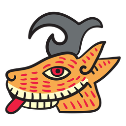 Flat aztec animal elements