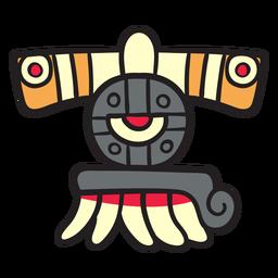 Flache aztekische Farbverzierung