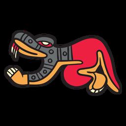 Flache aztekische Farbschlange
