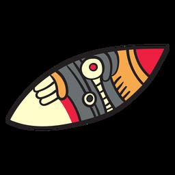 Divindade de elementos astecas plana