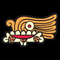 Ornamento de simbolismo de elementos astecas plana