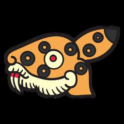 Flat aztec symbols animal