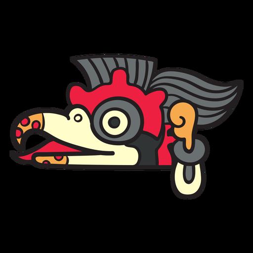 Flat aztec symbols color birds