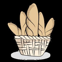 Imagem de pão de padaria plana