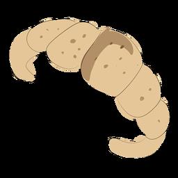Croissant de padaria plana