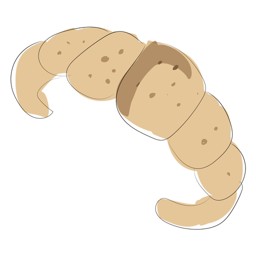 Flat bakery croissant