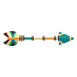 Flat boho arrow blue