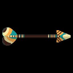 Flecha plana boho de madera