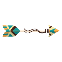 Flat boho arrow wooden arrow