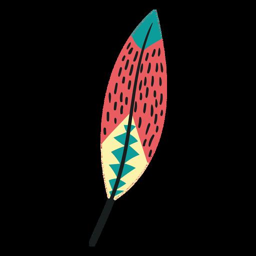 Flat boho birds feather