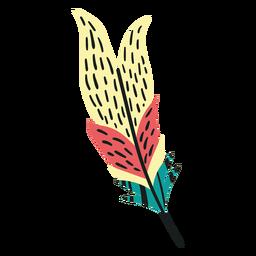 Pluma de plumas de aves boho plano