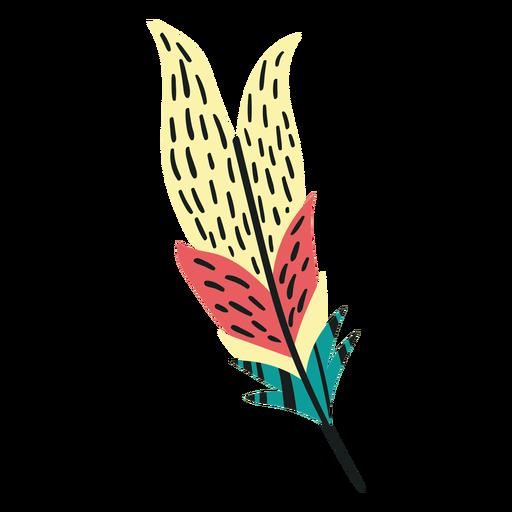 Flat boho birds feather feather