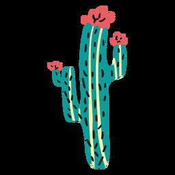 Flat boho cactus