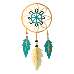 Flat boho dreamcatcher color