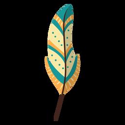 Flat boho feather